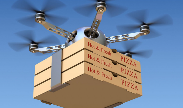 Delivery of pizza by air - foto 1230