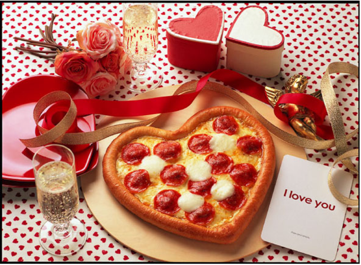 Pizza and romantic evening for Valentine's Day - foto 1645