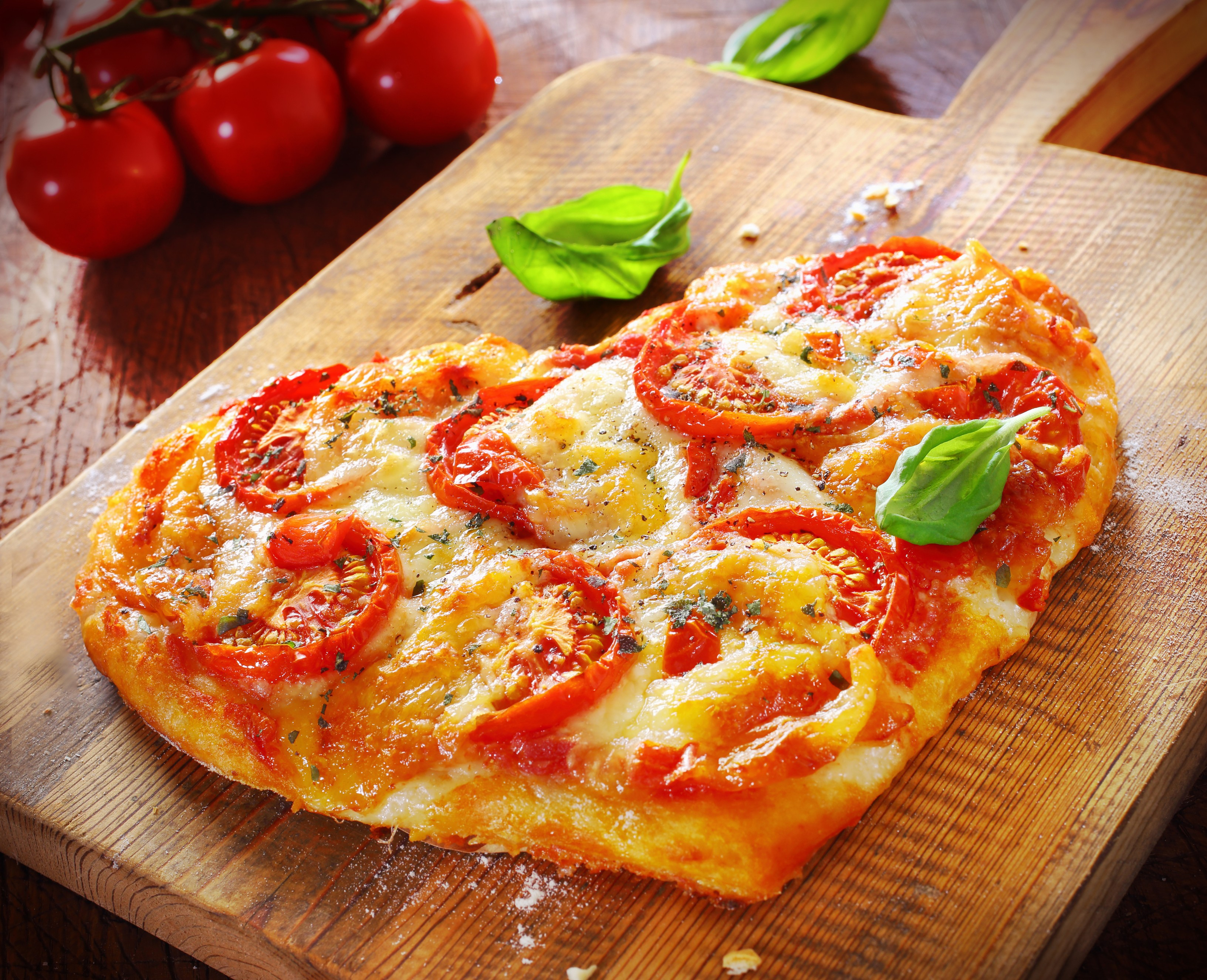 pizza in the shape of heart